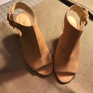 Nine West Mule Nude Heels Size 6M